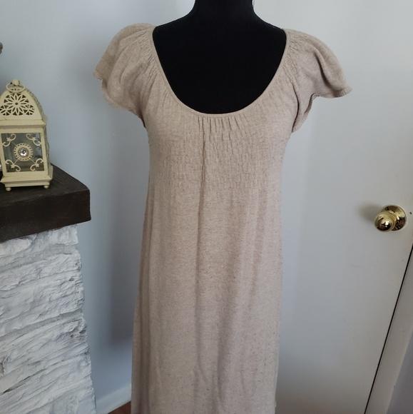 Anthropologie Dresses & Skirts - Anthropologies Moth tan sweater dress. Size XS
